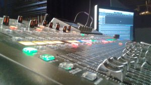 a mixing board