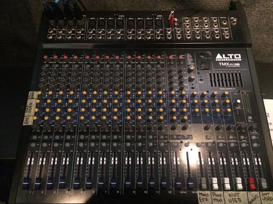 alto professional mixer