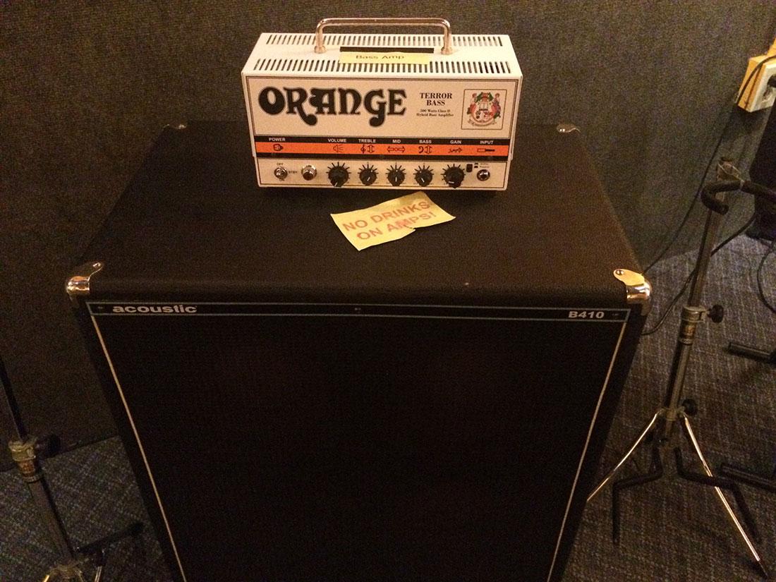 Orange Bass Amp and Acoustic B410 Speaker Cab